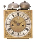 A fine and rare William III table clock movement and dial with pull-quarter repeat, John Knibb