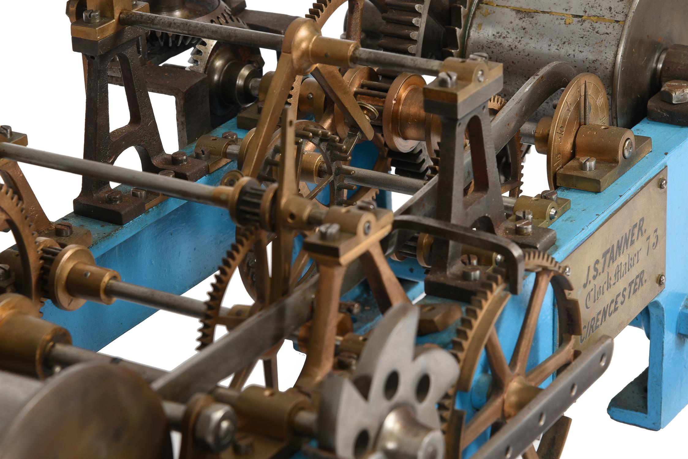 A Victorian cast iron, brass and steel turret clock movement - Image 4 of 5