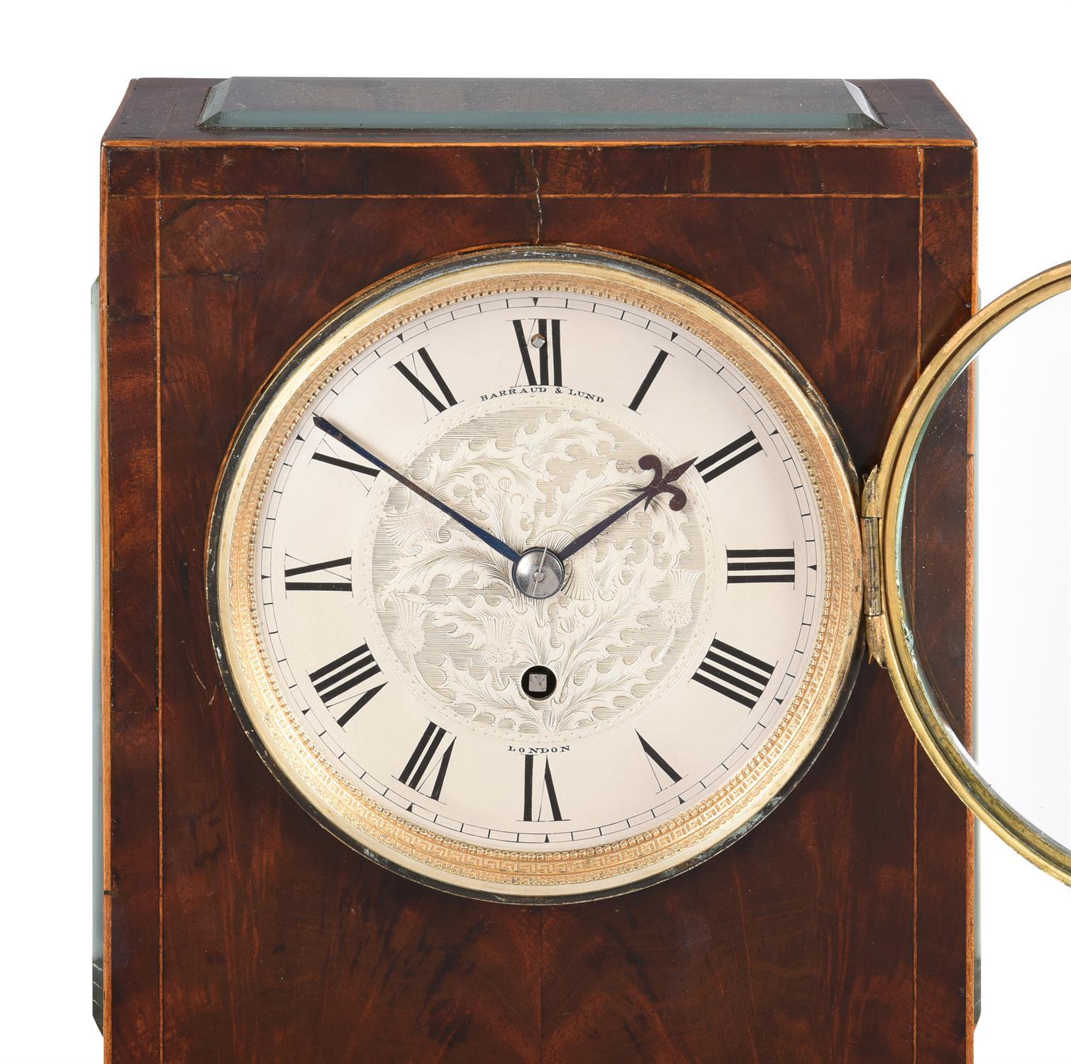 An inlaid mahogany mantel timepiece - Image 2 of 3