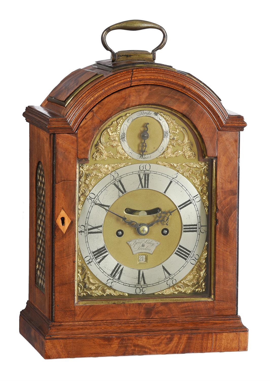A George III brass mounted mahogany table clock, Benjamin Sidey