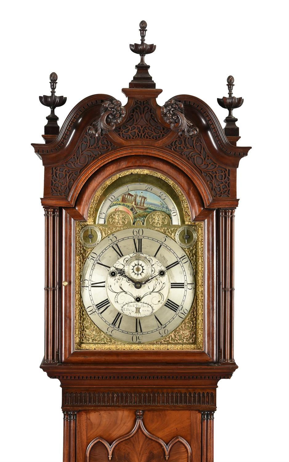 An impressive George III eight-day musical longcase clock with moonphase, Richard Bullock - Image 2 of 5
