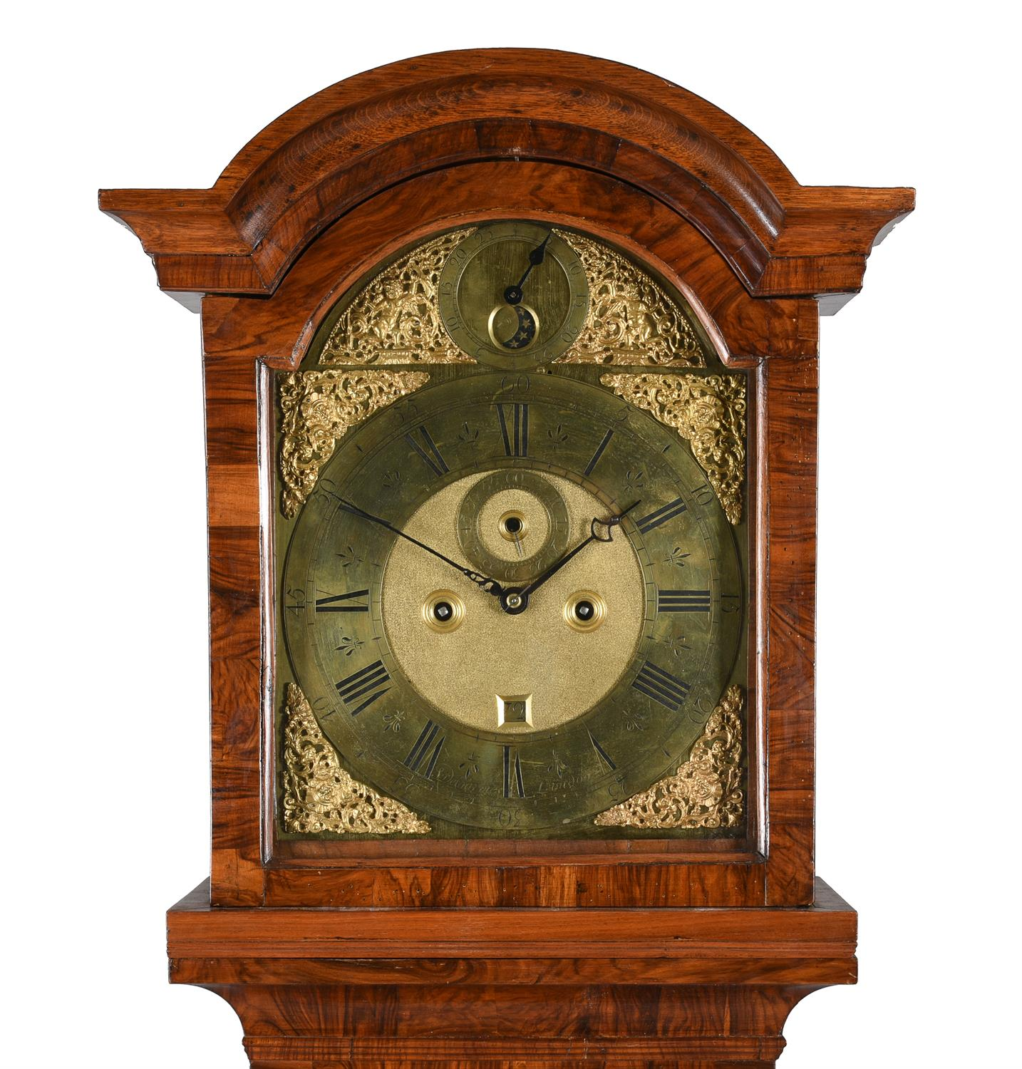 A Queen Anne walnut eight-day longcase clock with moonphase, Simon DeCharmes - Image 2 of 5