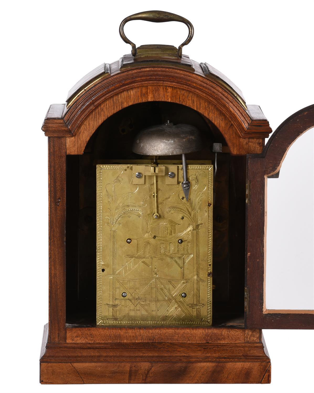 A George III brass mounted mahogany table clock, Benjamin Sidey - Image 2 of 2