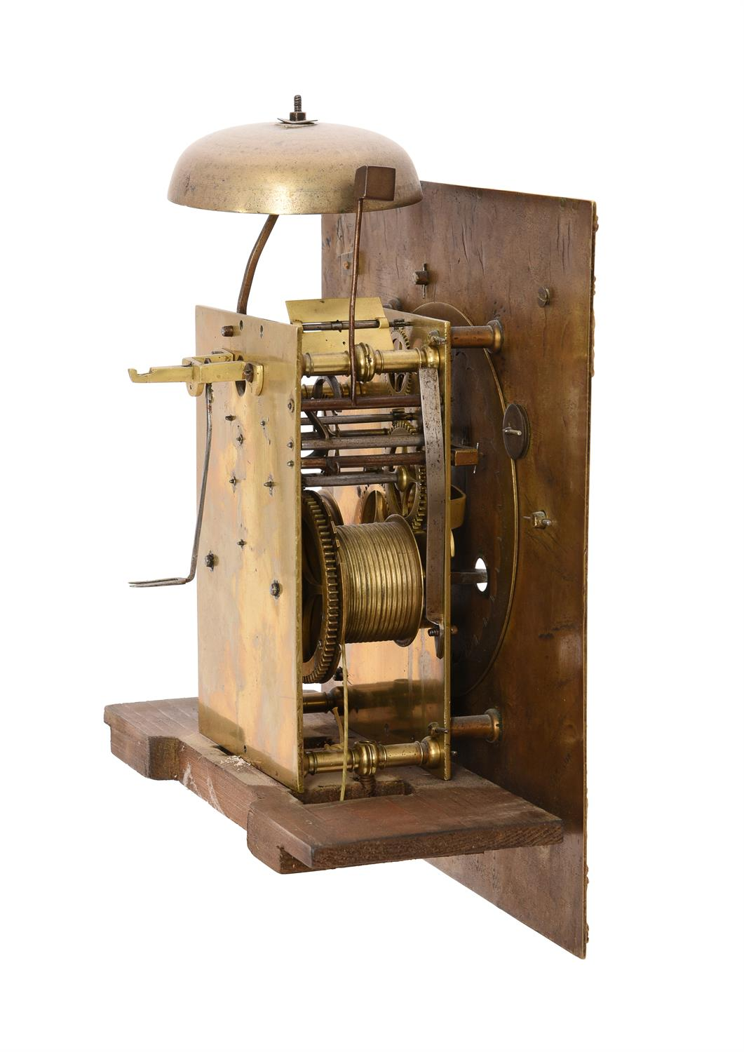 A William III provincial longcase clock movement with 11 inch dial - Image 2 of 4
