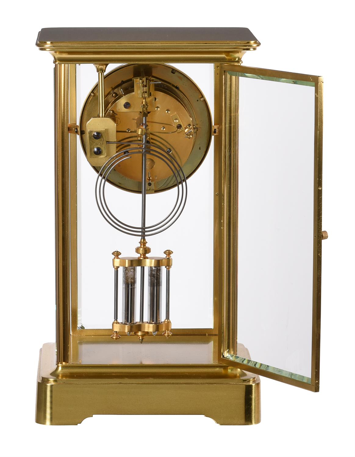 A French gilt brass four-glass mantel clock - Image 2 of 2