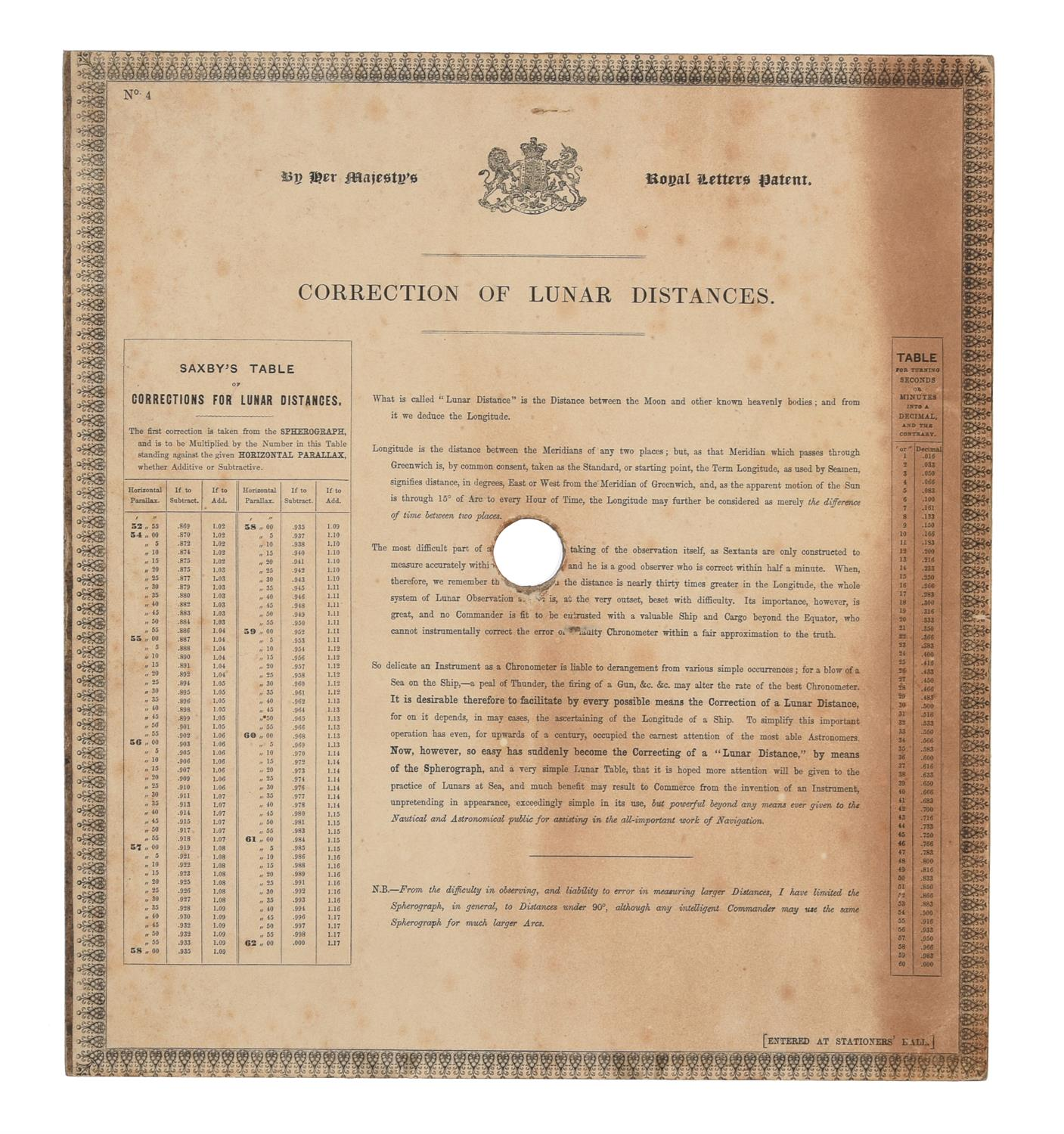 A rare group of 'Saxby's patent spherograph' marine navigational error calculator panels - Image 8 of 19