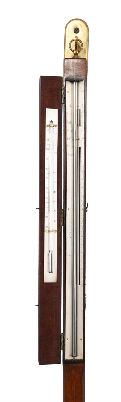A rare Regency mercury balloonist's stick barometer, Cox - Image 2 of 2