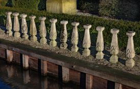 A set of 24 stone composition supports from balustrading