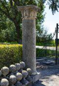 A carved limestone column