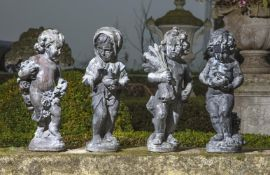 A set of four lead models emblematic of the four seasons, in the manner of works by J.P. White