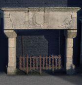 A French, probably Brittany (Bretagne) granite chimney piece