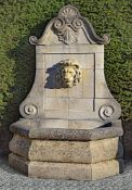 A Continental carved limestone all fountain
