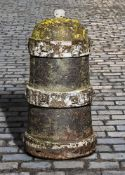 A rare and unusual French cast iron bollard