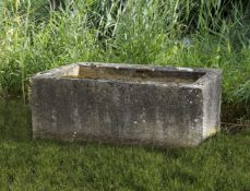 A Continental carved limestone trough