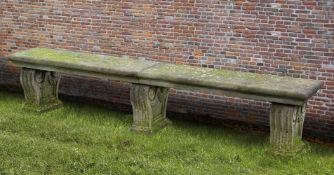 A Continental limestone garden seat