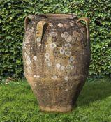 A terracotta vase or planter
