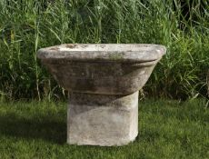 A French Bourgogne limestone planter