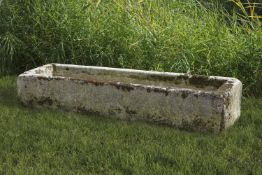 A large Continental carved limestone trough