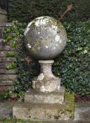 A rare and unusual French limestone sundial