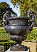 After Claude Ballin I (1615-1678), a French cast iron urn