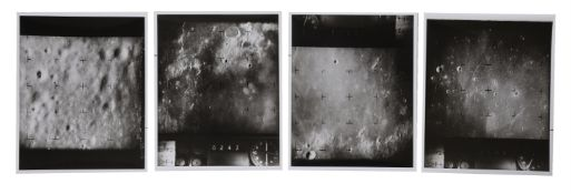 Eight views of the lunar surface, including the last frame before the impact, Ranger 7, July 1964