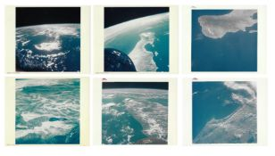 Six orbital views of the Earth: Florida, Mexico, Hawaii, Gemini 5, August 1965