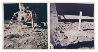 Diptych: Lunar Module 'Eagle' at the Traquility Base, Apollo 11, July 1969