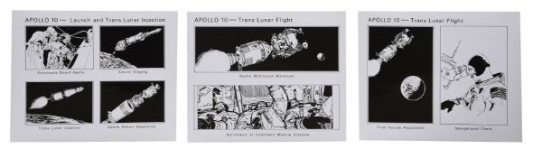 Illustrated sequence of the Apollo 10 flight [on seven prints], Apollo 10, April 1969