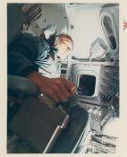 Apollo 8 crew prepares for the first lunar voyage, Apollo 8, December 1968
