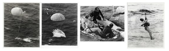 Views of splashdown and recovery [five photographs], Gemini 12, November 1966
