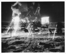 Buzz Aldrin's 'kangaroo run' and scientific activities, Apollo 11, July 1969