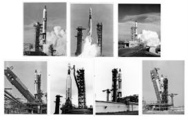 Seven views of the rockets before and during launches, Gemini 4, 6 & 12, June 1965 - November 1966