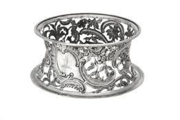 A late Victorian Irish silver dish or potato ring by Goldsmiths & Silversmiths Co.