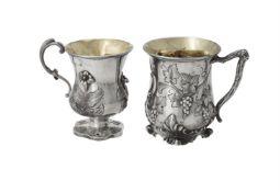 A Victorian silver baluster mug by Edward & John Barnard