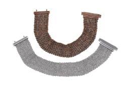 A pair of mesh link bracelets by Carolina Bucci