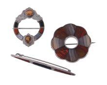 A Scottish hardstone brooch