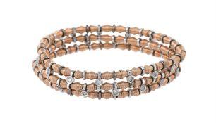 A two colour diamond bracelet