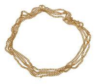A curb link long chain