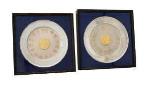 A framed silver limited edition commemorative plate by Yorkshire Mint