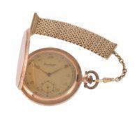 Levrette, Gold coloured full hunter keyless wind pocket watch