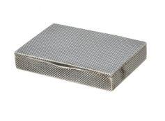A continental silver coloured and niello box
