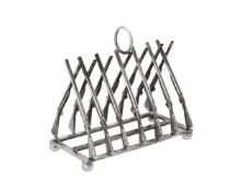 A silver six division toast rack by Whitehill Silver & Plate Co.