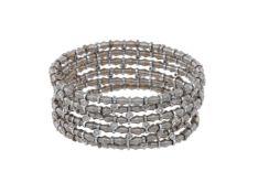 A sprung diamond bracelet