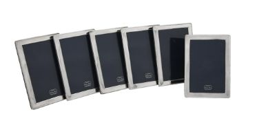 Six silver mounted rectangular photo frames by Kitney & Co.