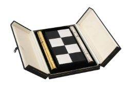 A silver limited edition chess set by Cyril Endfield