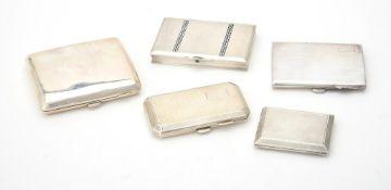A silver rectangular cigarette case by Kimberley & Hewitt Ltd.