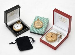 Unsigned,18 carat gold open face pocket watch
