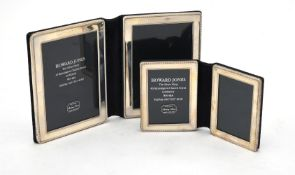 Two silver mounted folding double photo frames by Kitney & Co.