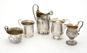An Edwardian silver baluster mug by Wakely & Wheeler