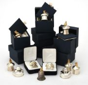 Eleven silver mounted toadstool keepsake boxes by Carr's of Sheffield